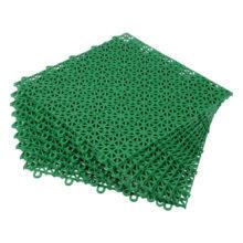 Покрытие пластиковое, универсальное 1м.кв. (9 плиток) цвет зеленый VORTEX/ 72
