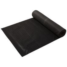 Коврик-дорожка резиновый  РИФЛЕНЫЙ 3мм 1,0*10м, против скольжения, черный VORTEX /1