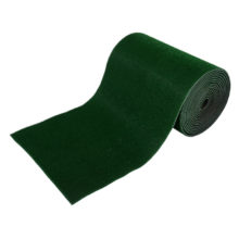 Коврик-дорожка 0,90*15 м ТРАВКА на противоскользящей  основе темно-зеленый рул VORTEX/1