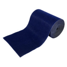 Коврик-дорожка 0,90*15 м ТРАВКА на противоскользящей основе синий рулон VORTEX/1