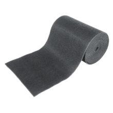 Коврик-дорожка 0,90*15 м ТРАВКА на противоскользящей основе серый рулон VORTEX/1