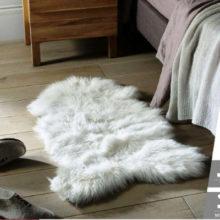 Шкура овечья, коричневая, искусственная 90*55 см. VORTEX 40/5