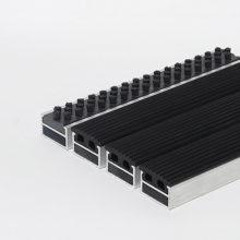 Алюминиевая решетка Щетка-резина 20 мм