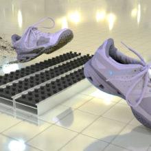 Алюминиевые решётки с грязезащитными вставками